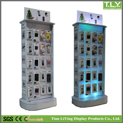 Various Mobile Phone Accessories Display Stand / Phone Accessories Shelf / with LED lights