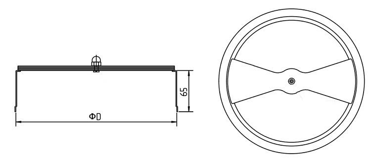 hvac air conditioning galvanized metal air diffuser