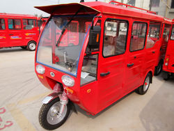 solar panel three wheel electric passenger and cargo tricycle