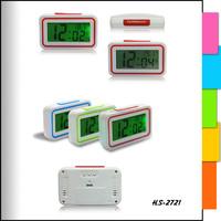 travel digital alarm table clock with backlight