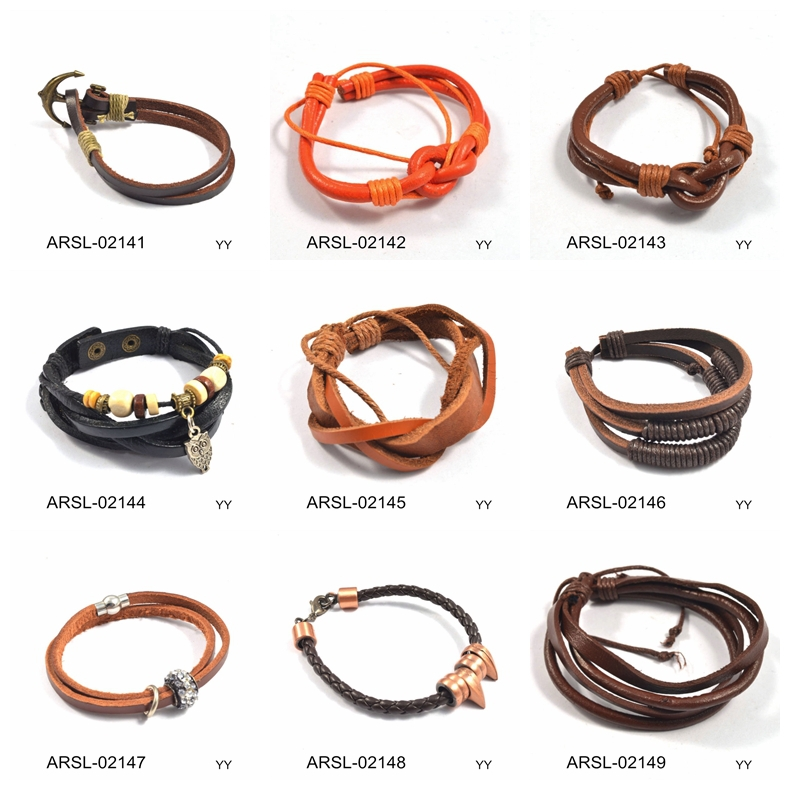 Made In Vietnam Products Modern Bangles And Bracelets Orange Leather