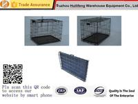 Black Wire Folding Suitcase Pet Dog Cat Crate Cage Collapsible Kennel w/ Tray