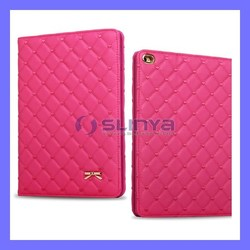 Rose Tablet Slim Pu leather Cases Blet Clip Case For iPad Mini 2 3 Air Leather Case