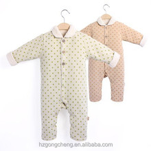 china wholesale cheap branded cotton baby clothes,long sleeve jumpsuit