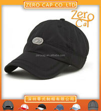 Custom breatheable closed back baseball cap with rubber paste