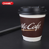 prevent leakage of disposable custom double wall hot coffee paper cup