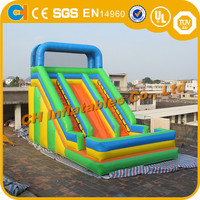 Double lane inflatable slides , colourful inflatable slides , inflatable climbing slides