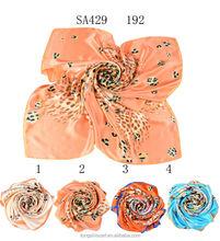 SA429 192 silk scarf guangzhou 100% silk hijab shawl and scarves supplier alibaba china