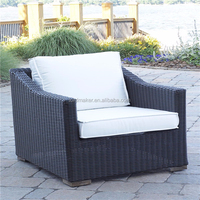 Stylish outdoor garden wicker furniture with SGS PE rattan wicker bar chairs