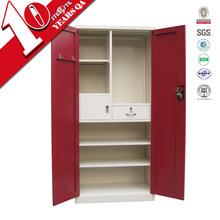 2 door bedroom clothes metal storage cupboard / bedroom hanging cabinet design