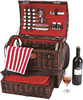 Hottest sale wicker gift basket in Chinese factory with cooler bag and fabric lining