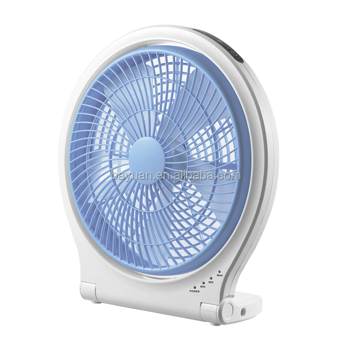 Buying Electric Fans : Electric plastic ac dc quot rechargeable table fan desk