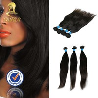 Top quality 6 -16inch brazilian straight hair weaving bundles,silk straight indian peruvian remy hair extensions