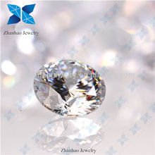 Zhanhao Jewelry 10 Hearts & 10 Arrows White Round shape Cubic Zirconia (CZ) Gemstone