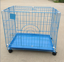 china wholesale portable foldable dog cage pet cage stainless steel dog cage