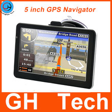 Car GPS Navigation 5 inch Touch Screen AV-in Bluetooth DDR 128M 4GB Free Update Map