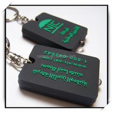 Best promotion small gift soft pvc key chain ring custom logo wholesale