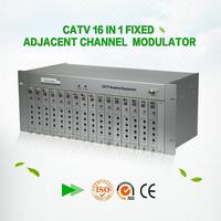 48~860MHz Fixed 16 channel catv headend modulator
