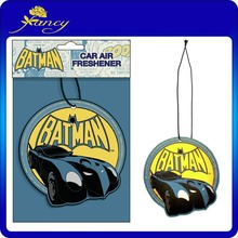 New design and customized fragrance make hanging cotton paper car air freshener