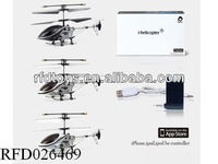 3 Channel infrared with gyroscope iphone remote control helicopter