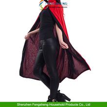 Long Black + Red Reversible Cape Mens Vampire Devil Cloak Fancy Dress Halloween