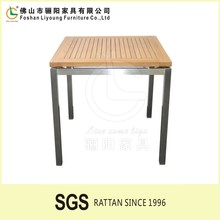 Cheap Patio Yard Garden Furniture /Factory Direct Supply Table/ Portable Teak Face Squre Table