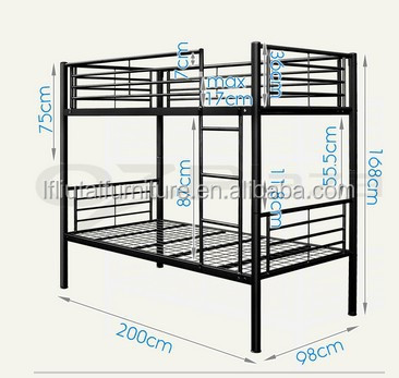 Cheap Modern Adult Military Style Heavy Duty Metal Bunk