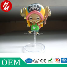 Custom one piece action figures, pvc plastic toys promotion gift,cartoon characters