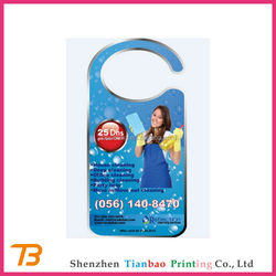 Custom cheap advertising hanging door flyer