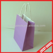 creative design and natural color kraft paper bag with high quality for gift packing