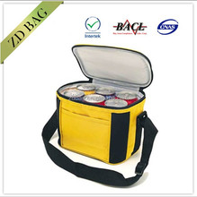 6 pack can non woven fitness insulated cooler bag for beer,beverage,cans