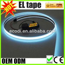 electroluminescent tape glowing el flat wire,flat flash wire,flat glow tape