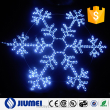White and Blue Snowflake 120L LED Rope Light
