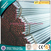 Different sizes low carbon pre galvanized surface treatment round steel tube/pipe with large stock