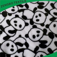 DTY Panda Design printed Flannel fleece fabric for blankets