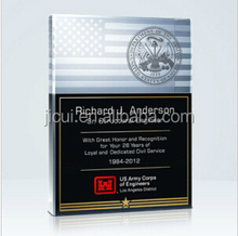 HOT Sale!!! crystal trophys and awards for American Flag Plaque U. S. Coast Guard