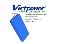 12V 30Ah lifepo4 rechargeable battery pack for Solar panel