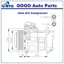 6CA17C compresor de aire acondicionado para m. BENZ CLASE W202 C180 C200 C220 / C280 / C36 OEM 4471002480 / 4471002485 / 4471009053