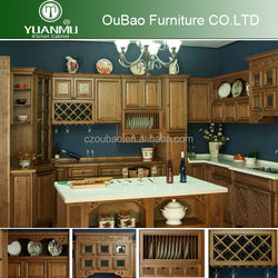 wholesale modular maple solid wood kitchen cabinets with kitchen cabinet plate rack wood