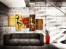 Original design modern abstract human figure oil painting