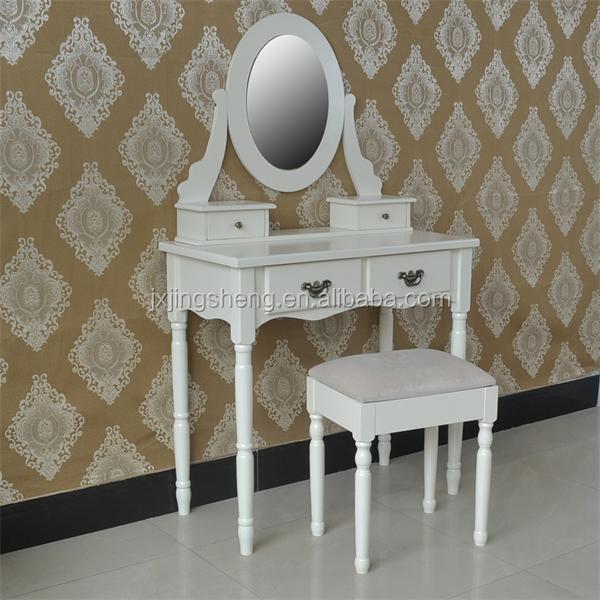 Table And Stool Set Classic White Range Distressed Bedroom Cream
