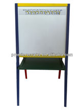 new wood kid easel with magnetic board with 4 legs
