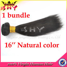 wholesale 16 inches straight indian remy hair extensions