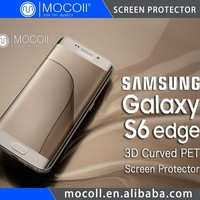 New Products Japan TPU Material For Samsung Anti Shock 3D Curved Full Cover Galaxy S6 Edge Screen Protector From Edge To Edge