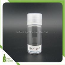 40ml empty pet plastic bottle travel lotion bottle non spill bottle