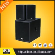 2015 active big portable speaker built in amplifier with usb port