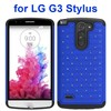 fashion accessories Bling Bling Style hybrid case for LG G3 Stylus