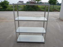 Factory Price Multi-level Slotted Angle Iron Racks with Longspan Shelving,High Quality