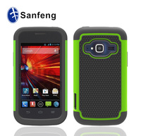 High quality Plastic Green Bella Hard Cover Snap On Case For ZTE Concord II Z730 back covers