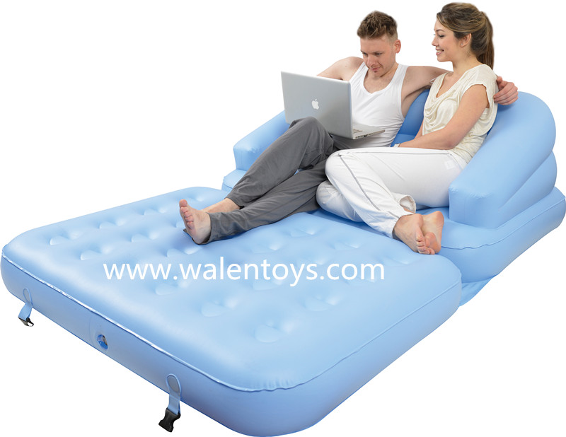 5 in 1 schlafsofa aufblasbaren einzigen doppel liege camping luftmatratze wohnzimmer sofa. Black Bedroom Furniture Sets. Home Design Ideas